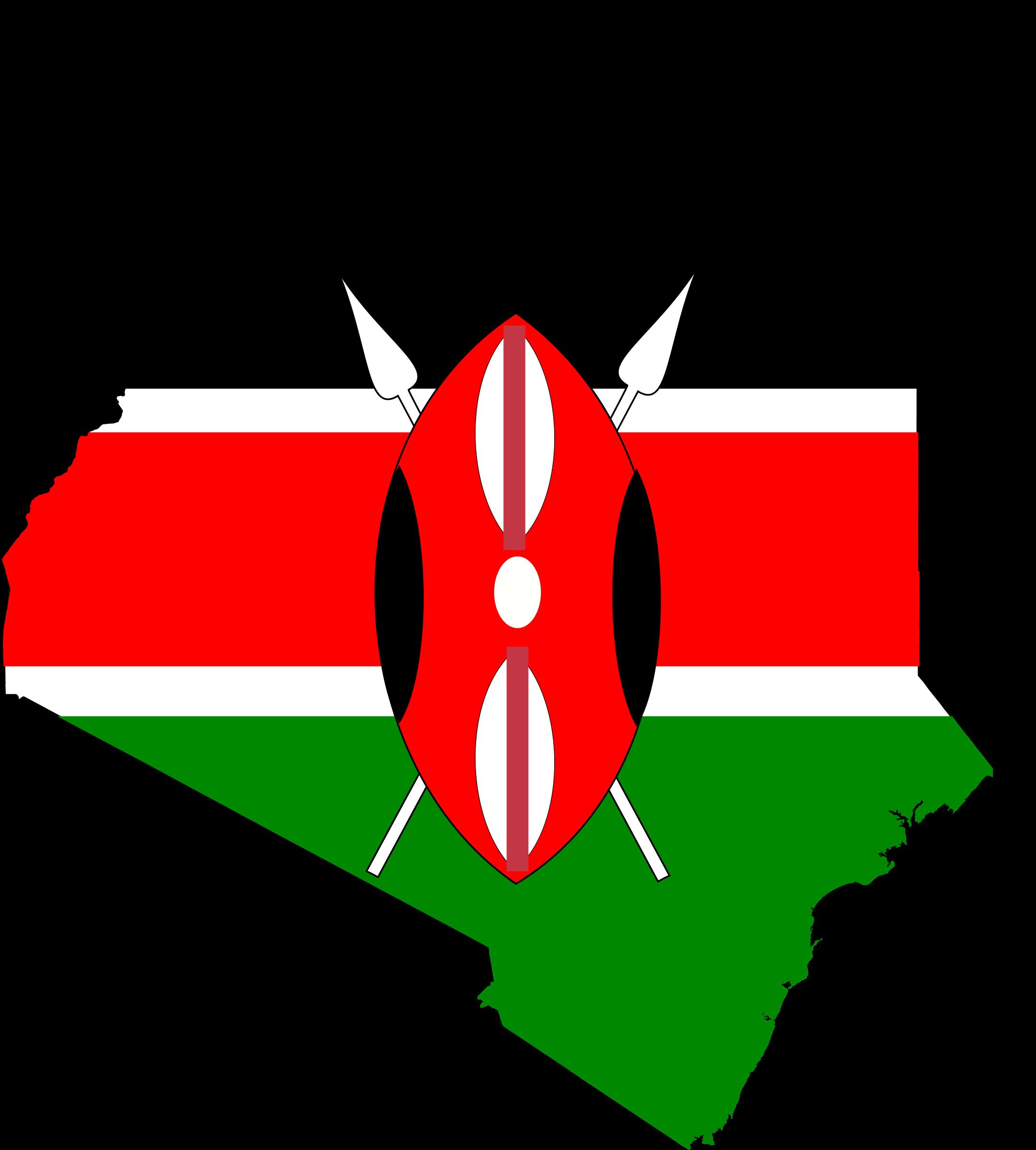 kenya flag map